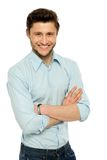 Man with arms folded Royalty Free Stock Images