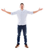 Man with arms open Royalty Free Stock Photos