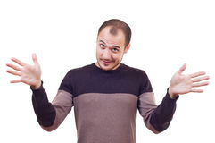 Man with arms outstretched Stock Image