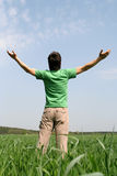 Man with Arms Outstretched Royalty Free Stock Photo