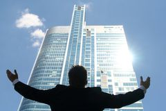 Man with arms outstretched Royalty Free Stock Images