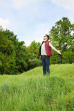 Man with arms outstretched Royalty Free Stock Image
