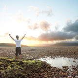 Man with arms raised Royalty Free Stock Photography
