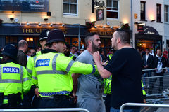 Man arrested by police during Champions League Final Stock Photography