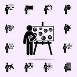 man with art degree icon. Universal set of student degree for website design and development, app development vector illustration