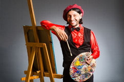 The man artist in art concept Royalty Free Stock Images