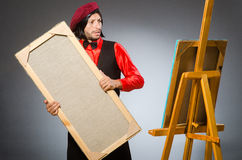 The man artist in art concept Royalty Free Stock Image