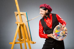 Man artist in art concept Royalty Free Stock Photography