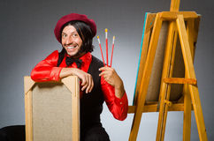 Man artist in art concept Royalty Free Stock Photo