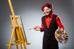 Man artist in art concept Stock Image