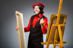 Man artist in art concept. The man artist in art concept Royalty Free Stock Photo