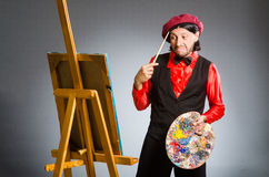 The man artist in art concept Royalty Free Stock Photography