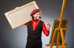 The man artist in art concept Royalty Free Stock Photo