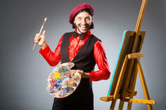 Man artist in art concept Stock Photography