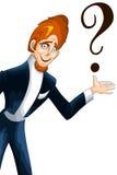 Man artist question clipart cartoon style  illustration wh Stock Photo