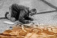 Man, Artist, Street, Painter Stock Photography