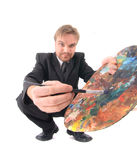 Man as artist Stock Photo