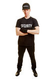 Man as a bodyguard or a security guard. With security clothes Stock Photos