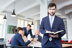 Man as consultant and controller Stock Images