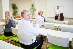 Man as manager applauds Royalty Free Stock Photo