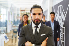 Man as manager or consultant Royalty Free Stock Photography