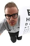 Man as ophthalmologist Royalty Free Stock Images