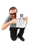 Man as ophthalmologist Stock Photography
