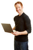 Man as a It programmer or blogger Royalty Free Stock Photography