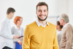 Man as successful start-up founder Stock Photo
