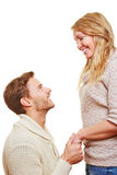 Man asking for apolgy from woman on Stock Image