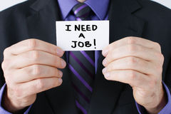 Man asking for work Royalty Free Stock Image