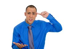 Man asking: are you crazy? Royalty Free Stock Photography