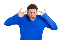 Man asking are you crazy Royalty Free Stock Image
