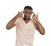 Man asking are you crazy? Royalty Free Stock Images