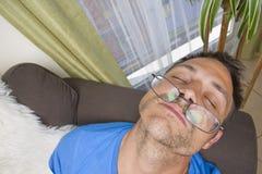 Man Asleep Royalty Free Stock Images