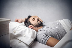 Man asleep Royalty Free Stock Images