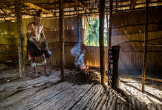 Man from the Asmat tribe Stock Photos