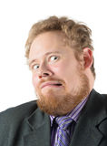 Man in astonishment and fear Royalty Free Stock Image