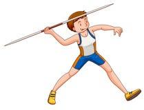 Man athlete doing javelin Stock Images