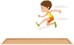 Man athlete doing long jump Royalty Free Stock Photos