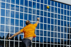 Man athlete shot put Royalty Free Stock Photography