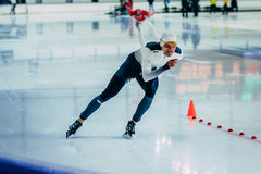 Man athlete skater warming up before a race Stock Photography