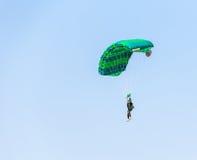 Man athlete skydiver flying Stock Photos