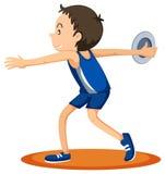 Man athlete throwing discus Royalty Free Stock Photo