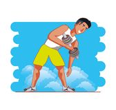 Man athlete training weight lifting. Vector illustration design Royalty Free Stock Photography