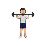 man athlete weight lifting avatar character Stock Photography