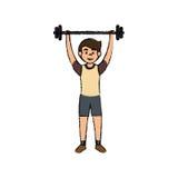 man athlete weight lifting avatar character Royalty Free Stock Photos