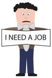 Man att söka efter ett jobb arkivbild