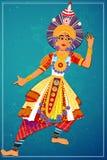 Man att utföra Yakshagana den klassiska dansen av Karnataka, Indien royaltyfri illustrationer