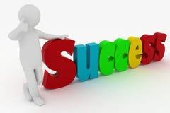 Man attaining success Stock Photography